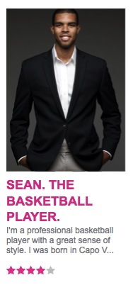 Sean. The Professional Basketball Player